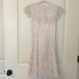 VINTAGE Jessica McClintock Blush Pink Dress